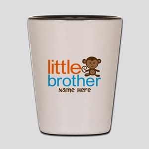Personalized Monkey Little Brother Shot Glass
