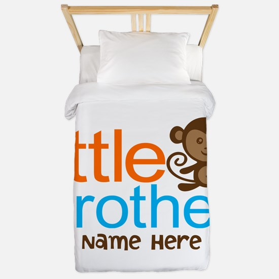 Personalized Monkey Little Brother Twin Duvet