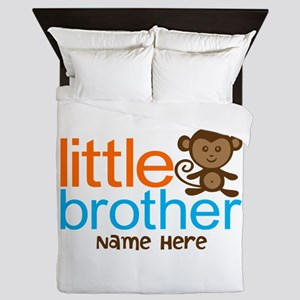 Personalized Monkey Little Brother Queen Duvet