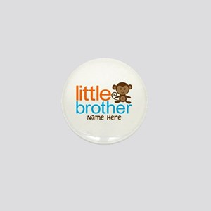 Personalized Monkey Little Brother Mini Button