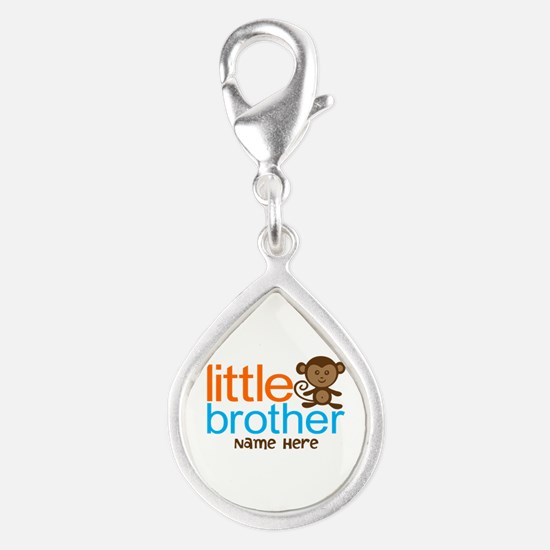 Personalized Monkey Little Brother Silver Teardrop