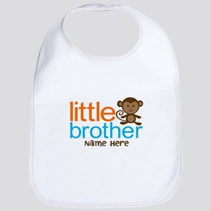 Personalized Monkey Little Brother Bib