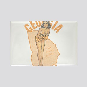 Faded Georgia Pinup Rectangle Magnet