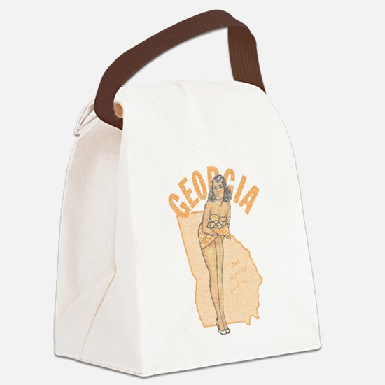 Faded Georgia Pinup Canvas Lunch Bag