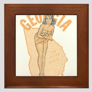 Faded Georgia Pinup Framed Tile