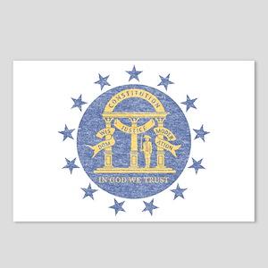 Vintage Georgia State Flag Postcards (Package of 8