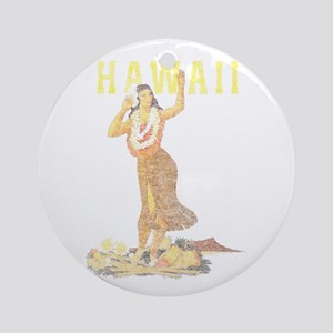 Hawaiian Pinup Hula Ornament (Round)