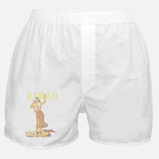 Hawaiian Pinup Hula Boxer Shorts