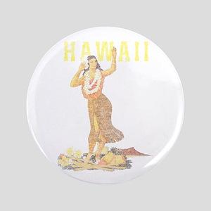 "Hawaiian Pinup Hula 3.5"" Button"