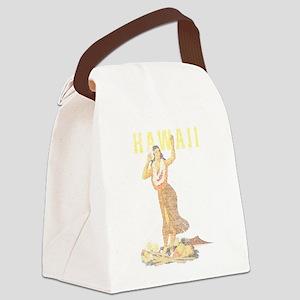 Hawaiian Pinup Hula Canvas Lunch Bag
