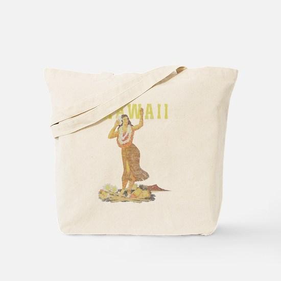Hawaiian Pinup Hula Tote Bag