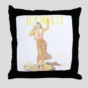 Hawaiian Pinup Hula Throw Pillow