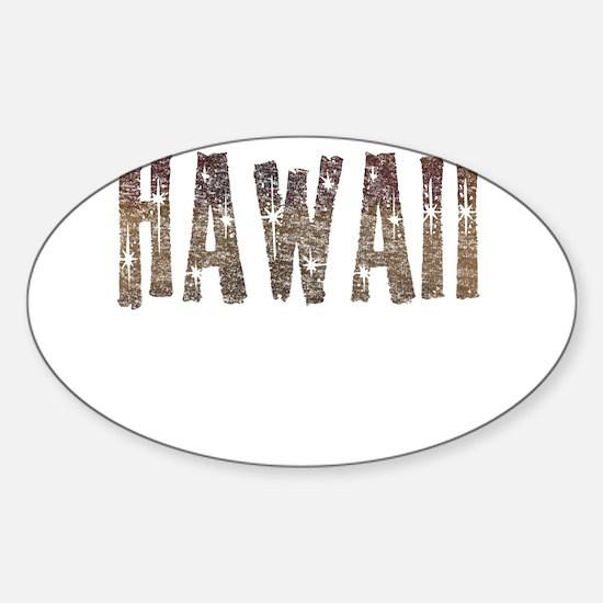 Hawaii Coffee and Stars Decal