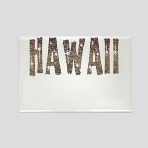 Hawaii Coffee and Stars Rectangle Magnet