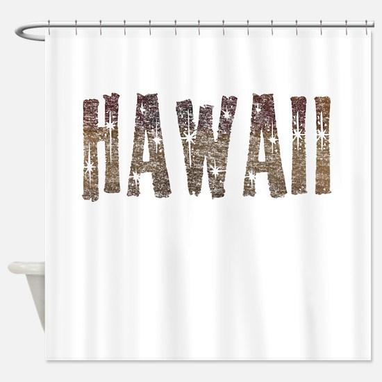 Hawaii Coffee and Stars Shower Curtain