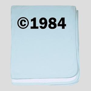 COPYRIGHT 1984 baby blanket