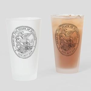 Vintage Illinois State Seal Drinking Glass