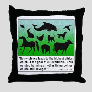 Thomas Edison Quote Throw Pillow