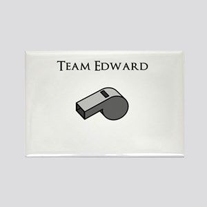Team Edward with Whistle Rectangle Magnet