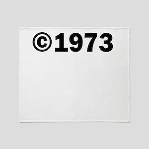 COPYRIGHT 1973 Throw Blanket