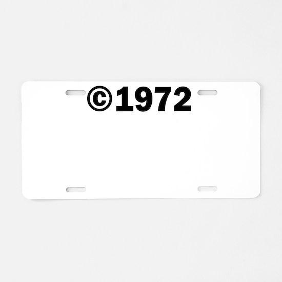 COPYRIGHT 1972 Aluminum License Plate