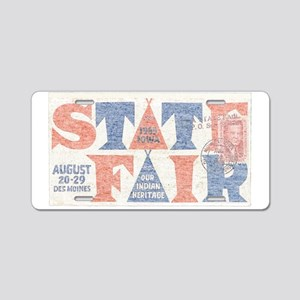 Vintage Iowa State Fair Aluminum License Plate