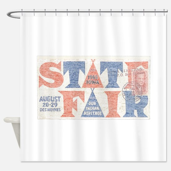 Vintage Iowa State Fair Shower Curtain