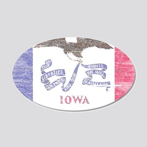 Iowa Vintage State Flag Wall Decal