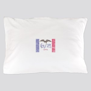 Iowa Vintage State Flag Pillow Case