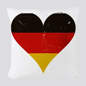 Germany heart Woven Throw Pillow