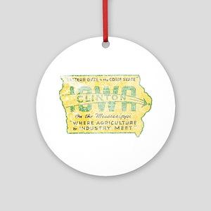 Vintage Clinton Iowa Ornament (Round)