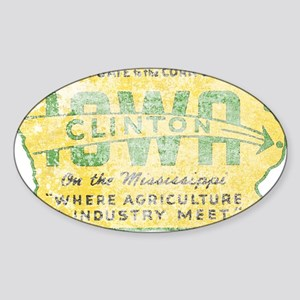 Vintage Clinton Iowa Sticker
