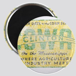 Vintage Clinton Iowa Magnet