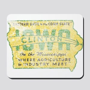 Vintage Clinton Iowa Mousepad