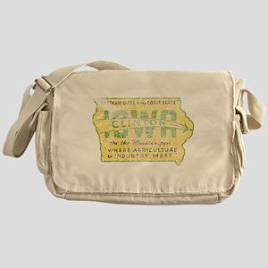 Vintage Clinton Iowa Messenger Bag