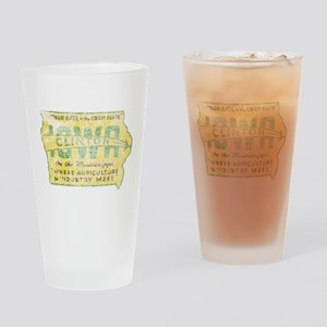 Vintage Clinton Iowa Drinking Glass