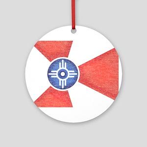 Vintage Wichita Kansas Flag Ornament (Round)