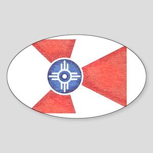 Vintage Wichita Kansas Flag Sticker