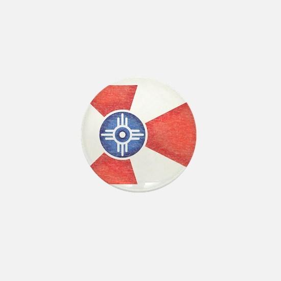 Vintage Wichita Kansas Flag Mini Button