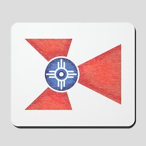 Vintage Wichita Kansas Flag Mousepad
