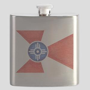 Vintage Wichita Kansas Flag Flask