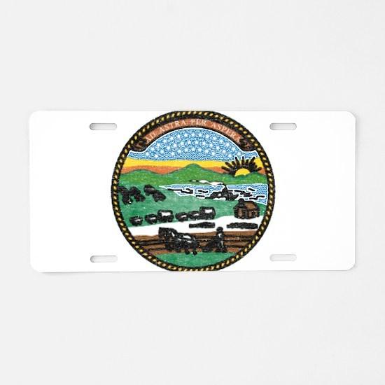 Kansas Vintage State Flag Aluminum License Plate