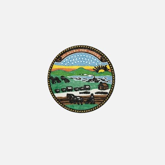 Kansas Vintage State Flag Mini Button