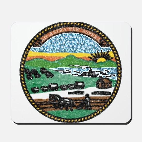 Kansas Vintage State Flag Mousepad