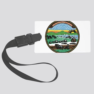 Kansas Vintage State Flag Luggage Tag