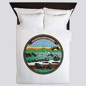Kansas Vintage State Flag Queen Duvet