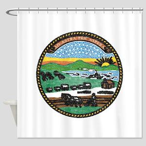 Kansas Vintage State Flag Shower Curtain