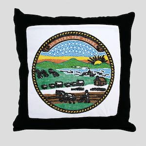 Kansas Vintage State Flag Throw Pillow