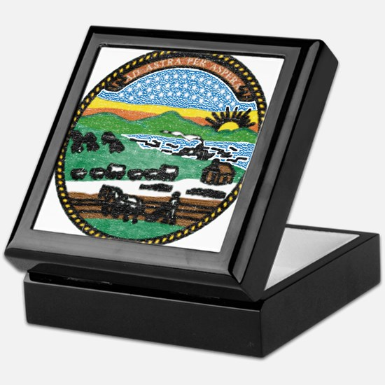 Kansas Vintage State Flag Keepsake Box