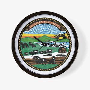 Kansas Vintage State Flag Wall Clock